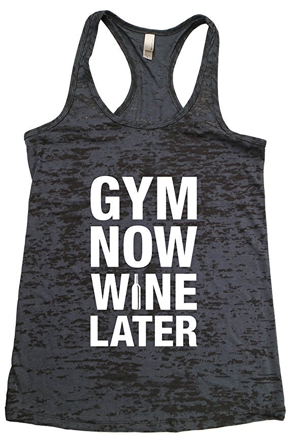 Gym Now Wine Later-Funny Running Shirts