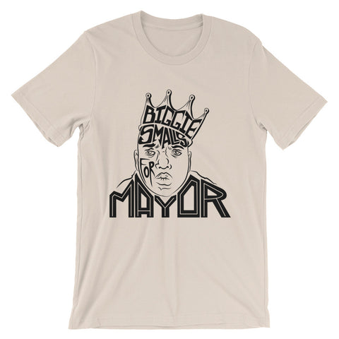 Biggie Smalls for Mayor / Hand Drawn Graphic Tee / Unisex short sleeve t-shirt