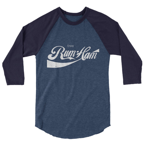 Enjoy Rum Ham / 3/4 sleeve raglan shirt