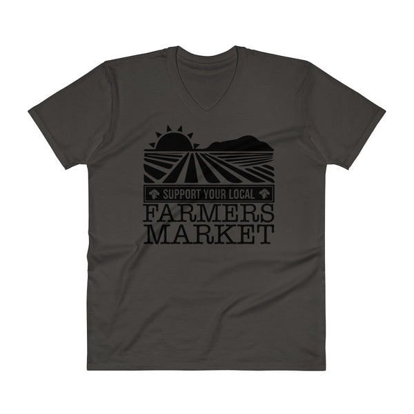 SUPPORT YOUR LOCAL FARMER'S MAKET / V-Neck T-Shirt