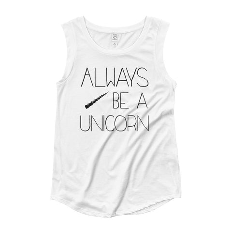 Always Be A Unicorn / Inspirational Ladies' Cap Sleeve T-Shirt