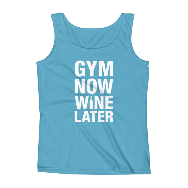 GYM NOW WINE LATER / Ladies' Tank