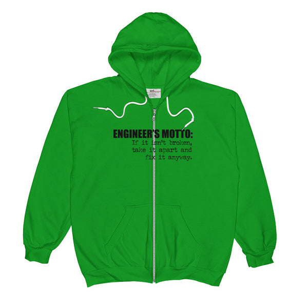 ENGINEER'S MOTTO / Unisex  Zip Hoodie