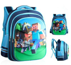 Cute MineCraft Cartoon Backpack