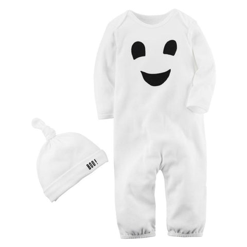 2 Pcs Halloween Ghost - Romper