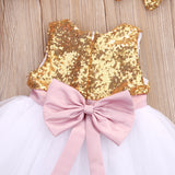 Sequins Bowknot Backless Dress