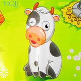 Farm Animal Musical Touch Play Singing Gym Mat