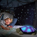 Turtle LED Night Light Stars With Music