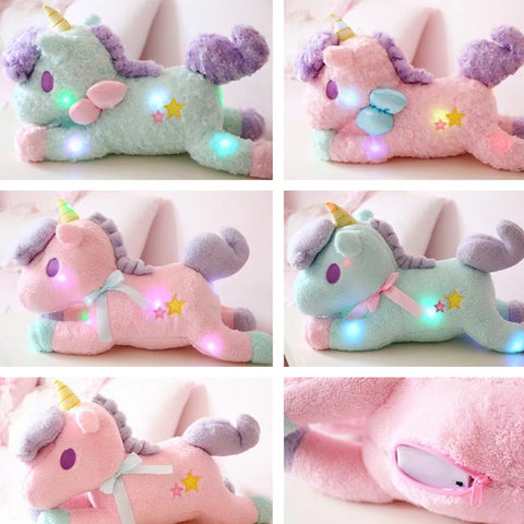 Glowing Unicorn Plush Toy