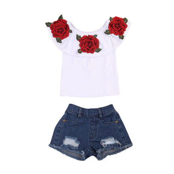 Off Shoulder Floral Set