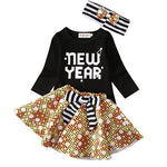 3PCS  New Year Tutu Dress