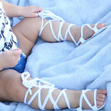 Leather Bandage Sandals