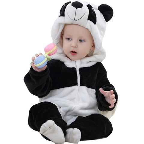 PANDA HOODED JUMPSUIT