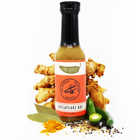 CHESAPEAKE BAY front bottle bay leaves jalapeno ginger root mustard seeds celery seeds turmeric