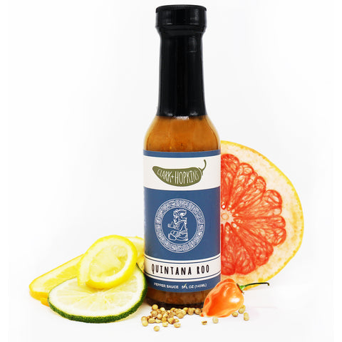 QUINTANA ROO front bottle lemon lime orange grapefruit garlic habanero coriander seeds