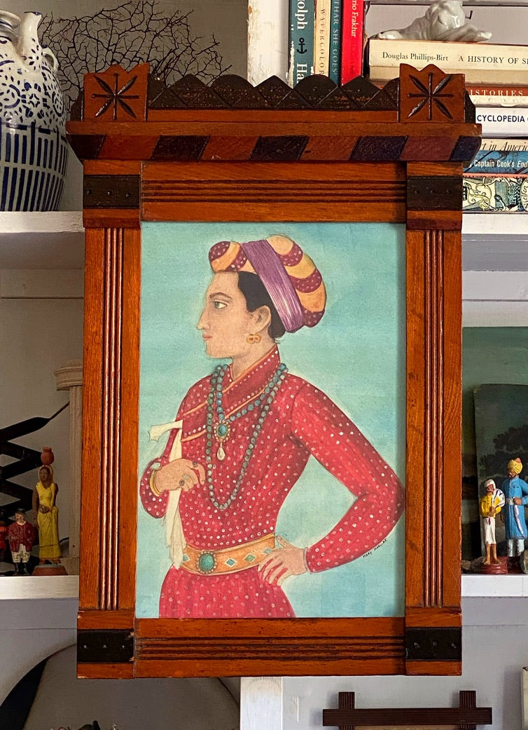 'Indian Prince' in Red Robes