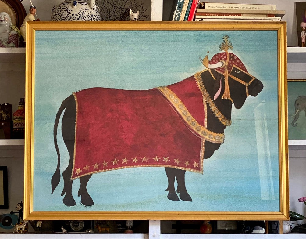 'Sacred Bull in Ceremonial Robe'