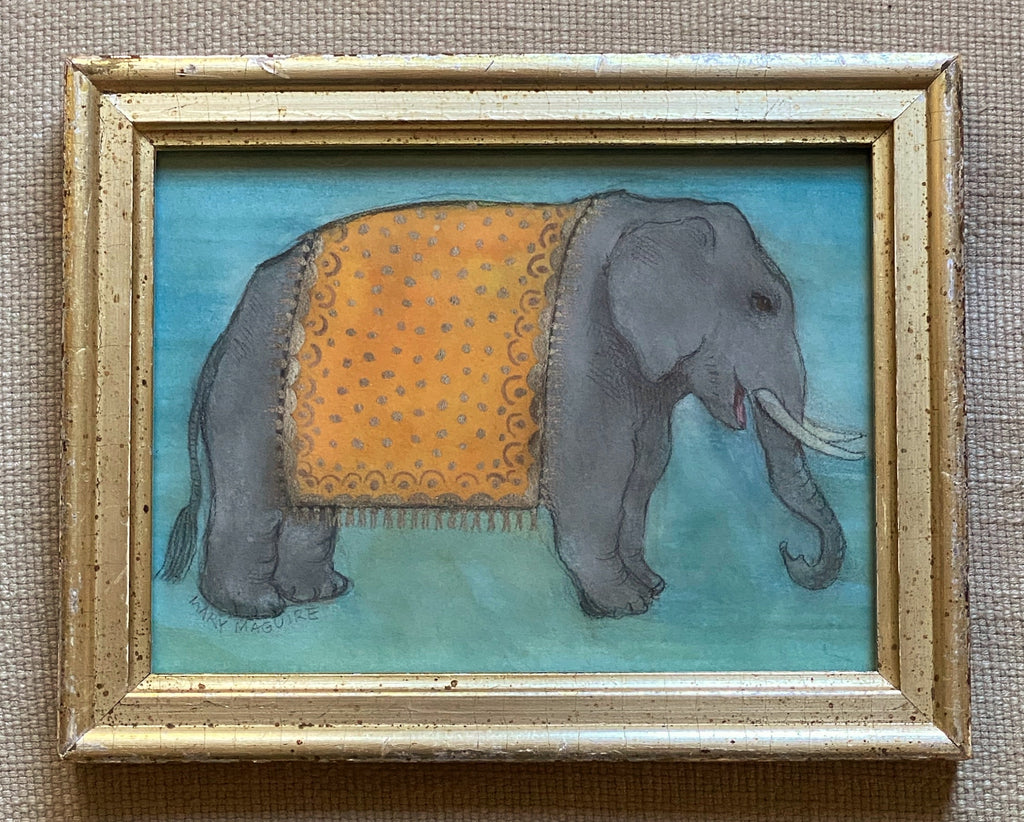 'Elephant in Gold Ceremonial Robes'