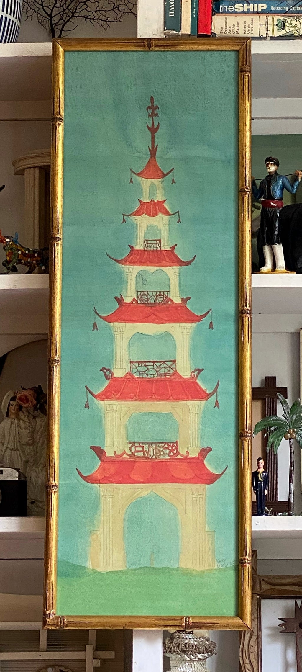 'Chinese Pagoda Six Tier Garden Folly'