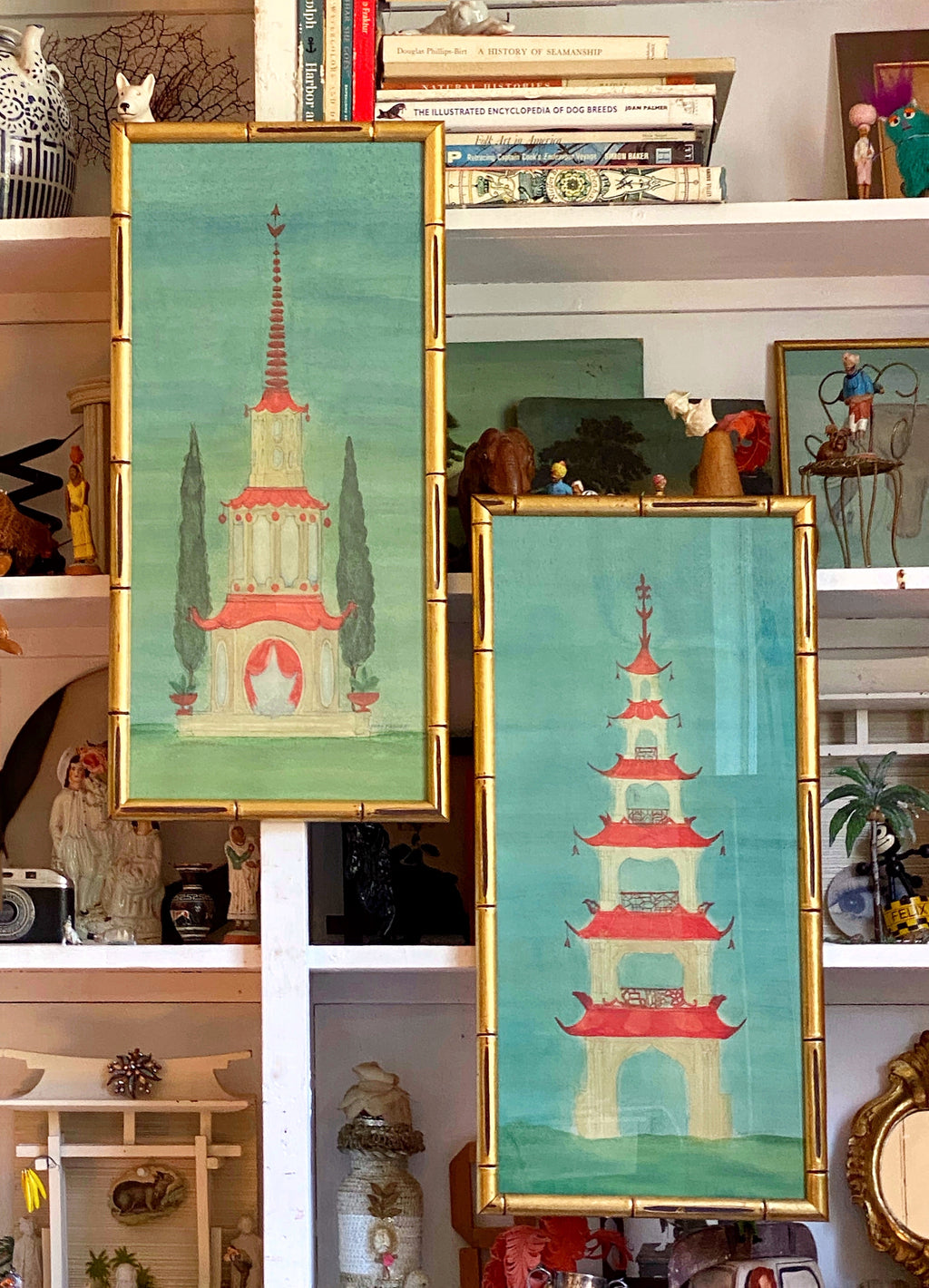 'Chinese Pagoda Garden Follies' -per piece