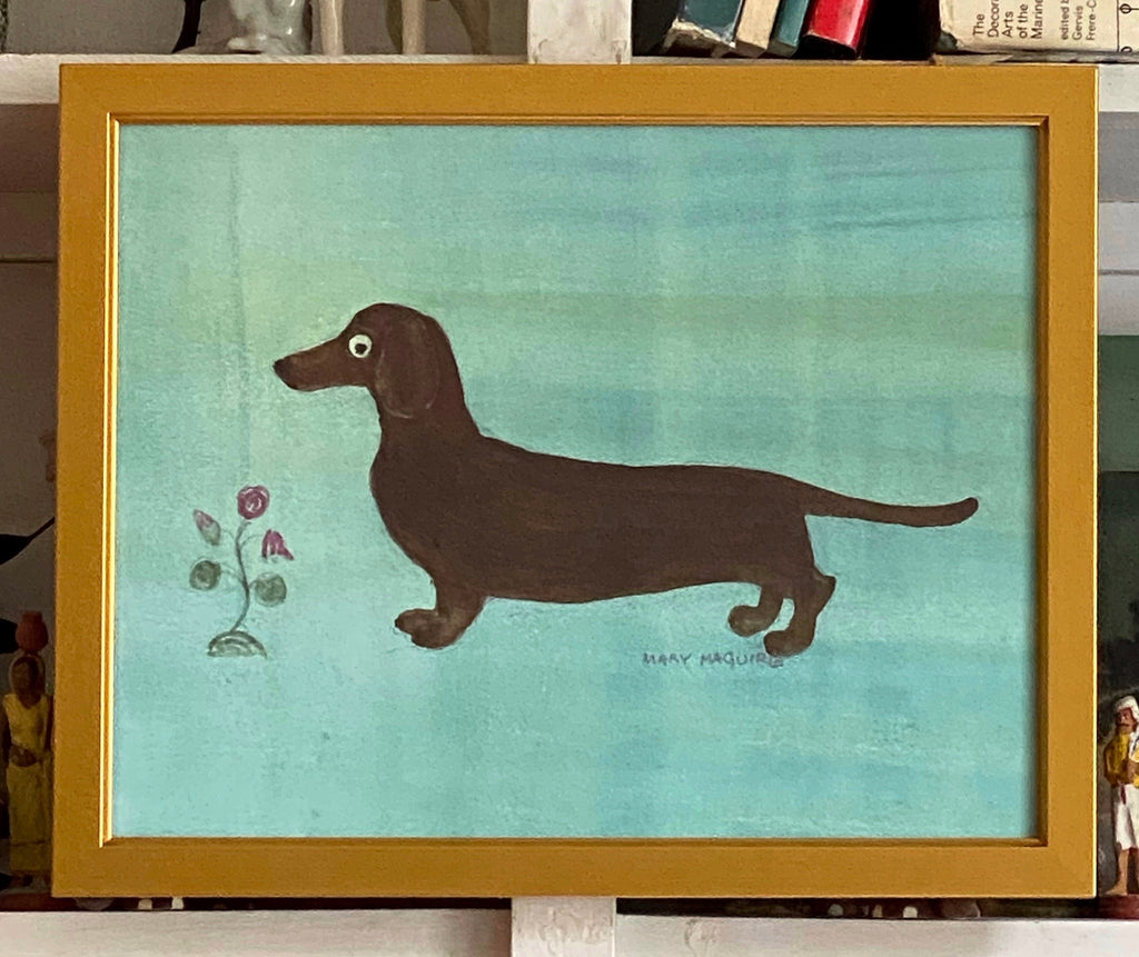 'Dachshund with Flowers'