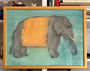 'Elephant in Gold Ceremonial Robe'
