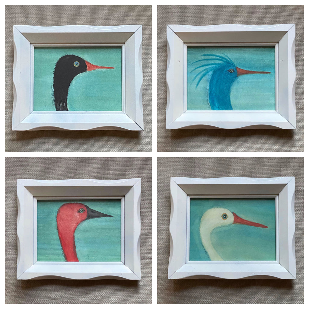 'Bird Portraits' -per piece