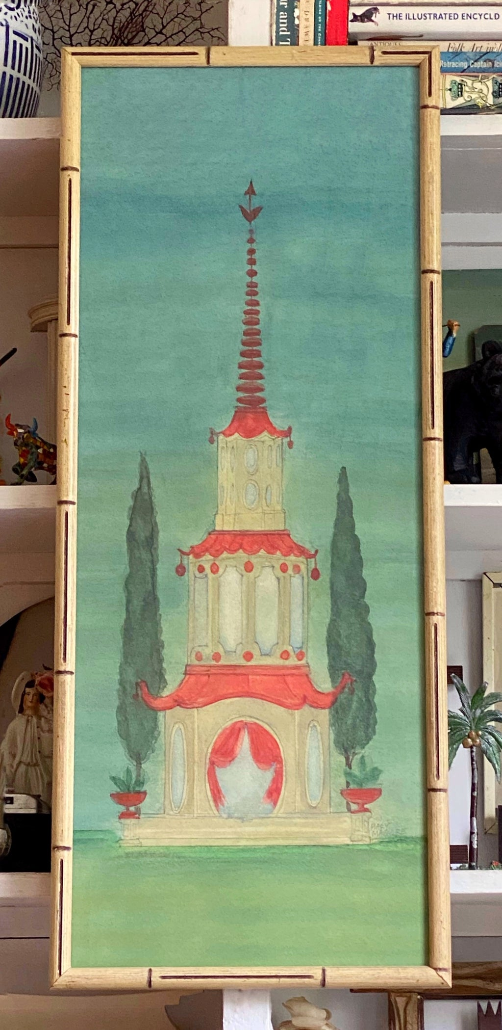 'Chinese Pagoda Three Tier Garden Folly'