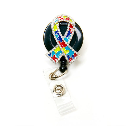 autism badge reel, nurse badge holder, badge clip, badge reel, retractable badge holder, rn badge reel, bling badge reel, swivel clip, slide clip