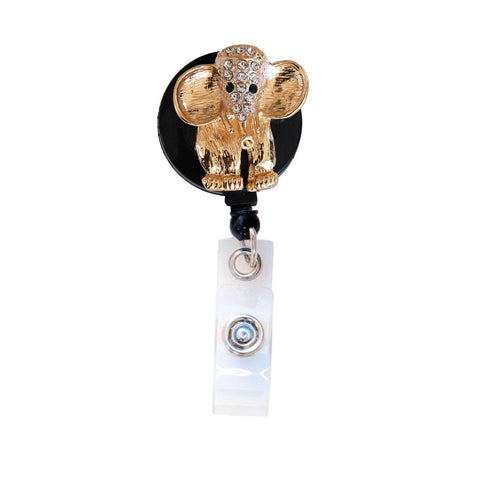 elephant badge reel, nurse badge reel, badge clip, badge holder