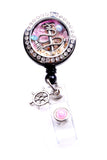 Boat Anchor Charm Locket Badge Reel Retractable ID Badge Holder