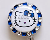 SIZZLE CITY Custom Retractable ID Badge Reels: BIG Head Hello Kitty