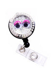 Bubble Eyes Charm Locket Badge Reel Retractable ID Badge Holder