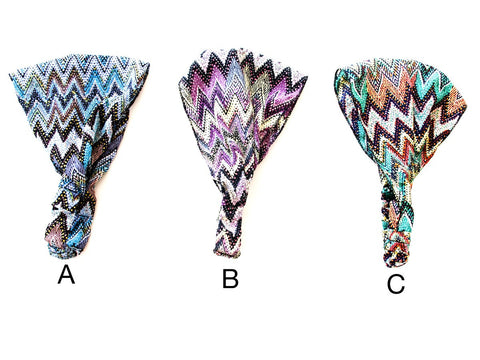 SIZZLE CITY Custom Colored Retro Fashion Chevron Statement Elastic Stretch Headbands