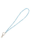 Custom Colored Bling Shimmering Crystal Beaded Lanyards