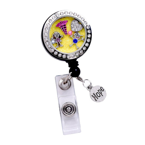 nicu locket badge, pediatric nurse badge, lablr and delivery badge reel, badge clip