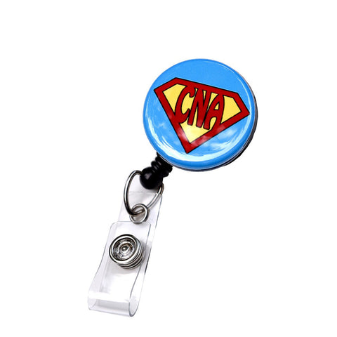 cna badge reel, nurse badge, badge clip, retractable badge reel