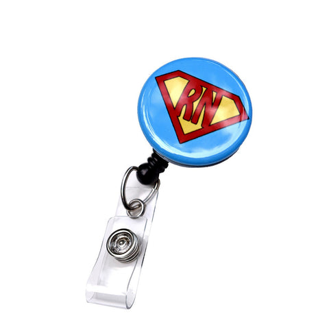 Blue Super RN Retractable ID Badge Holder