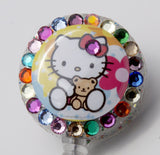 SIZZLE CITY Custom Retractable ID Badge Reels: Baby Hello Kitty with Teddy