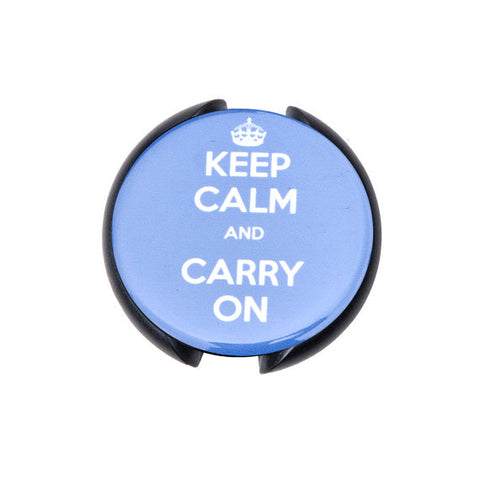 Keep Calm and Carry On Stethoscope ID tag, Name Tag, ID Tag-Blue