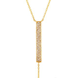 Lariat Diamond Bar Necklace