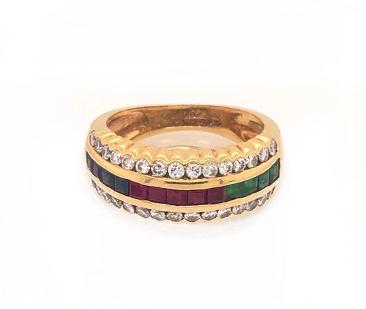 Retro Tricolor Ring