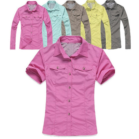 Womens Quick Dry Fishing Shirt