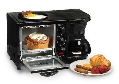 Elite Cuisine EBK-200B Maxi-Matic 3-in-1 Multifunction Breakfast Center. FREE Shipping!