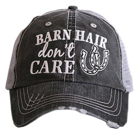 Women's Distressed Grey Trucker Hat (White)