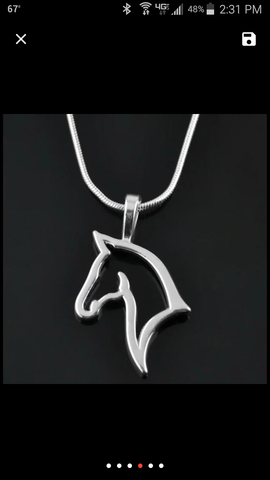 Hollow Horse Pendant