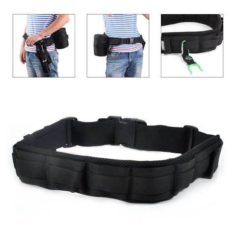 Adjustable Padded Camera Waist Belt Lens & Bag Pack Strap