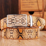 Snakeskin Genuine Cowhide Belt