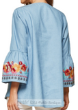 Embroidered Tunic Top