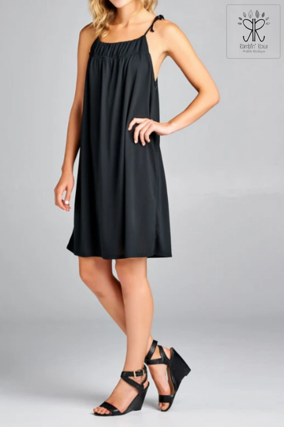 Spaghetti Strap Tie Dress